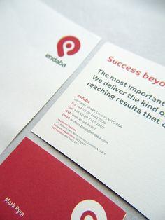Endaba: Branding and Stationary. by Paul Robson, via Behance
