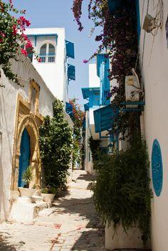 """breathtakingdestinations: """" Sidi Bou Said - Tunisia (von khowaga1) """""""