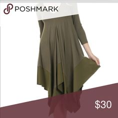 Dress Jersey dress. Satin border with silk border Dresses High Low