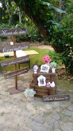 Casamento Mônica e Everton Caraguatatuba -SP Vanessa Mendes Decorações - Espaço Varanda Verde
