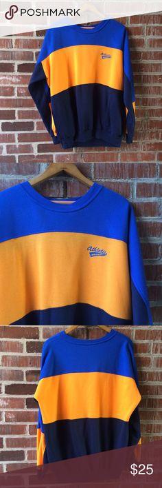 "Vintage 80|90s Athletic Dunlop Crewneck Vintage Athletic Dunlop color block crewneck sweatshirt. Cool side pockets. Men's Large. Bust 48"". Great vintage condition. Vintage Shirts Sweatshirts & Hoodies"