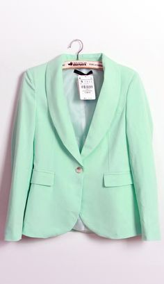 Fashion Small Suit Light green