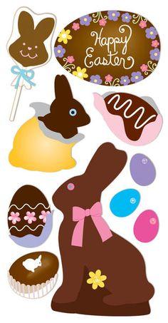 "Sandylion Essentials Dimensional Stickers, 2.75"" X 6.75"" Sheet - Easter Chocolate $1.69"