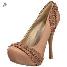 Qupid Crinkled Ribbon Sexy High Heel Taupe Stiletto Pumps Onyx-03 (7) - Qupid pumps for women (*Amazon Partner-Link)