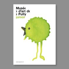 """""""Poster series for the Musée d'Art de Pully promoting its activities for kids. All spots have been """"brought to live"""" by Emmanuelle Klaefiger.""""----- by Nicolas Zenter---The Design Blog"""