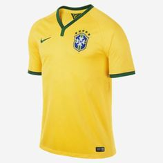 he 2014 Brasil CBF Stadium Men's Soccer Jersey is made with sweat-wicking mesh fabric for breathable comfort. Featuring a team crest on the left chest, this lightweight replica home shirt celebrates the Canarinho with pride.  for more details : http://fancy.to/j6q4d0