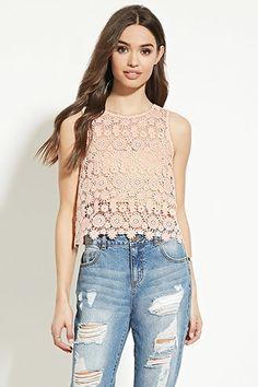 Floral Crochet Top