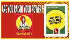 Sun-Maid Raisin Your Power Giveaway -