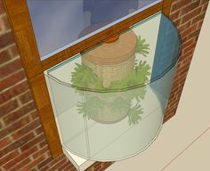 outside in! #Phytopod window garden greenhouse for your #apartment or condo