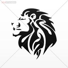 Decals Stickers Lion Car Window Wall Art Decor Doors Helmet Truck Motorcycle Note Book Mobile Size: 4 X 3.5 Inches Black Lions Stickers