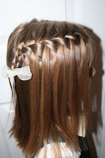 Square Waterfall Braid Tieback Hairstyle