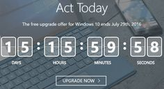 Actualizar a Windows 10: Gratuidad termina el 29 de Julio