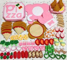 Felt Play Food, Kawaii Crafts, Busy Book, Felt Crafts, Diy For Kids, Handmade, Tela, Toys, Feltro