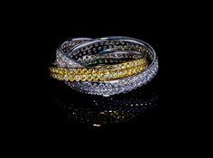 Erice Trinity - #digregorio_milano #diamonds #whitediamonds #yellowdiamonds #whitegold #rings #finejewellery #luxury