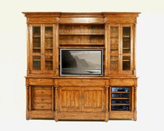 9284 BUFFET AND HUTCH TOP WITH PLASMA TV LIFT