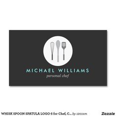 WHISK SPOON SPATULA LOGO 6 for Chef, Catering Double-Sided Standard Business Cards (Pack Of 100)