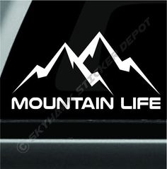 Mountain Life Decal Bumper Sticker Car Truck Off Road Sticker Fit Jeep Dodge Ram