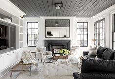 Love the dark ceiling.