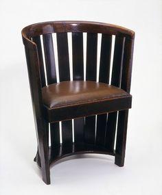 Mackintosh Chair - Place of origin: Glasgow, Scotland  Date:ca. 1907 (designed)   ca. 1907 (made)Artist/Maker: Mackintosh, Charles Rennie, born 1868 - died 1928
