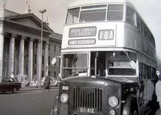 The origins of bus services in Dublin go back to the first horse tram, the Terenure route, in A network of tram routes developed quickly, and the network was electrified between 1898 and Images Of Ireland, Dublin City, Dublin Ireland, Old Pictures, Buses, Trains, Irish, Memories, The Originals