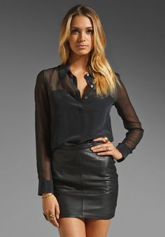 EQUIPMENT Ruby Chiffon Blouse in Black at Revolve Clothing - Free Shipping!