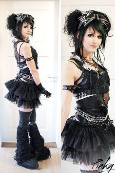 My Silvester Look (by Pinky Sevensins) Dark Fashion, Emo Fashion, Gothic Fashion, Grunge Punk Fashion, Punk Outfits, Gothic Outfits, Alternative Outfits, Alternative Fashion, Estilo Rock