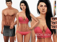 Sims 4 CC's - The Best: Veox Skin Overlay by Pralinesims