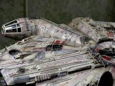 Millennium Falcon Model, Falcons, Scale Models, Gundam, Starwars, Science Fiction, Pop Culture, Ships, Millenium Falcon