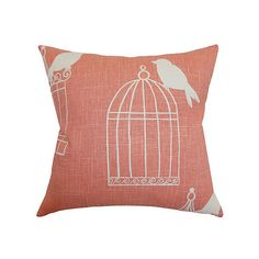 Alconbury 18x18 Cotton Pillow Melon Decorative Pillows ($59) ❤ liked on Polyvore featuring home, home decor, throw pillows, melon, bird throw pillow, cotton throw pillows and bird home decor