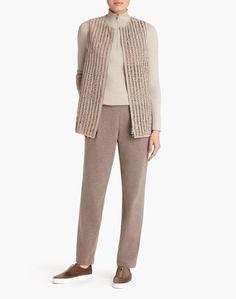 Luxuriant Lambsuede Braided Laritza Vest - Jackets - Women - Clothing   Lafayette 148 New York