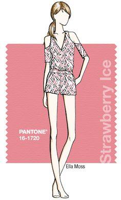 Ella Moss in Pantone Strawberry Ice - SPRING 2015 PANTONE's #FashionColorReport