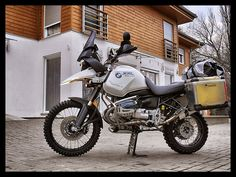 Touratech Cz creation by Tomas Kocanda. BMW R 1150 GSA with a F 800 GS front, custom light weight frame and rally package electronics.