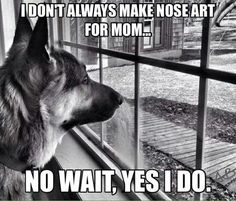 Yes my pooch Nixie Loo does and I love her artwork! ❤