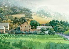 Regusci Winery, Silverado Trail, Napa – California Watercolor