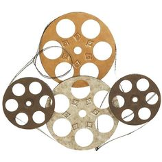 Benzara Four Film Reels Metal Wall Decor (89 TND) ❤ liked on Polyvore featuring home, home decor, wall art, multi, home theatre decor, home theater wall art, home theater decor, metal wall art and film reel wall art