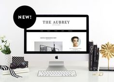 Introducing the Aubrey: A chic template for Wordpress! http://www.kaybrighton.com