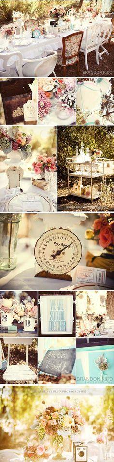 Handmade Weddings: Vintage Wedding Decor With Grey Likes | The Etsy Blog