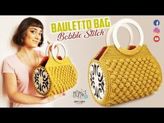 Crochet Bag Tutorials, Diy Crochet, Crochet Handbags, Crochet Purses, Crochet Bags, Bobble Stitch Crochet, Anniversary Ideas For Him, Crochet Blanket Patterns, Handmade Bags