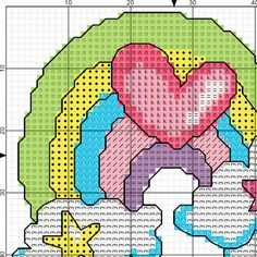 Colorful Cloud Beginner Cross Stitch Modern by AprilBeeShop