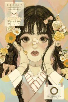 Art And Illustration, Character Illustration, Kunst Inspo, Art Inspo, Cartoon Kunst, Cartoon Art, Pretty Art, Cute Art, Aesthetic Art