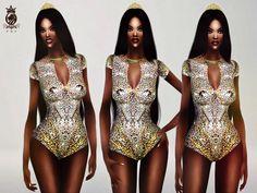 FashionRoyaltySims' Beyonce Glitter Bodysuit