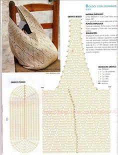 코바늘 숄더백 ( 도안 )/ 손뜨개 가방 : 네이버 블로그