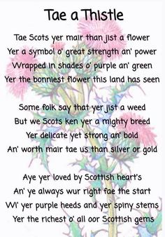 """""""Tae a Thistle."""" Too bad about the erroneous apostrophe in 'hearts'! >.<"""