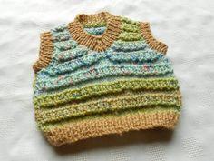 Baby boy newborn sweater, multicolor, hand knit
