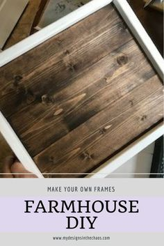 Visit this craft blog to learn how to make this DIY Frame | Farmhouse Frame | Vinyl SIgn | #farmhouse #vinylcrafts #mydesignsinthechaos Diy Pallet Furniture, Diy Furniture Projects, Diy Pallet Projects, Pallet Crafts, Craft Projects, Wooden Furniture, Furniture Plans, Furniture Repair, Furniture Nyc