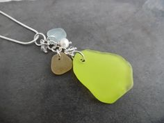 Items similar to Rare Yellow Sea Glass Necklace Jewelry English Blue Seaglass Sterling Pendant on Etsy Sea Glass Necklace, Sea Glass Jewelry, Yellow Sea, Blue, Head Pins, Pearl White, Swarovski Crystals, Jewelry Necklaces, Pendants