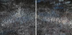 Zeng Fanzhi's This Land So Rich In Beauty No. 6 (Diptych) surpassed its high estimate with a sale of $2.8 million at Sotheby's Hong Kong evening sale. (Sotheby's)