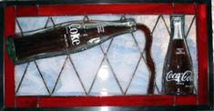 coke bottles                   stained glass