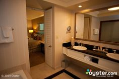 Bathroom in the Deluxe Room at the Mandalay Bay Resort & Casino
