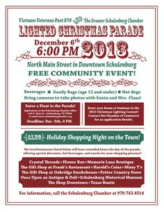 #Schulenburg Annual Lighted Christmas Parade Poster 2013
